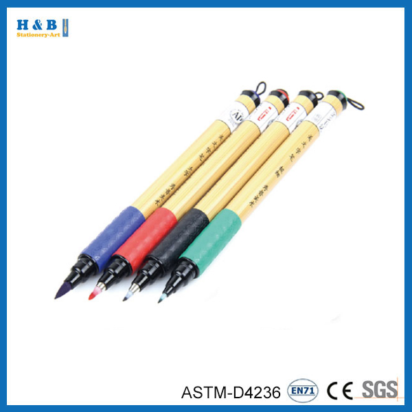 Assorted colors chinese brush calligraphy marker set