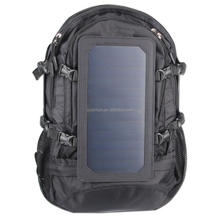 8353a 50l hot sale solar backpack black color solar charger backpack for mobile with eva+pu+abs bag