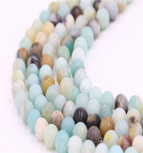 DIY bracelet beads colorful loose natural Amazonite stone beads strand