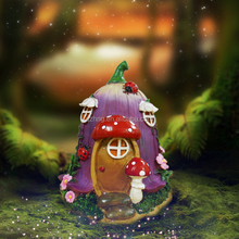 Garden Mini Decor Crafts Resin Natural Fairy Mushroom House