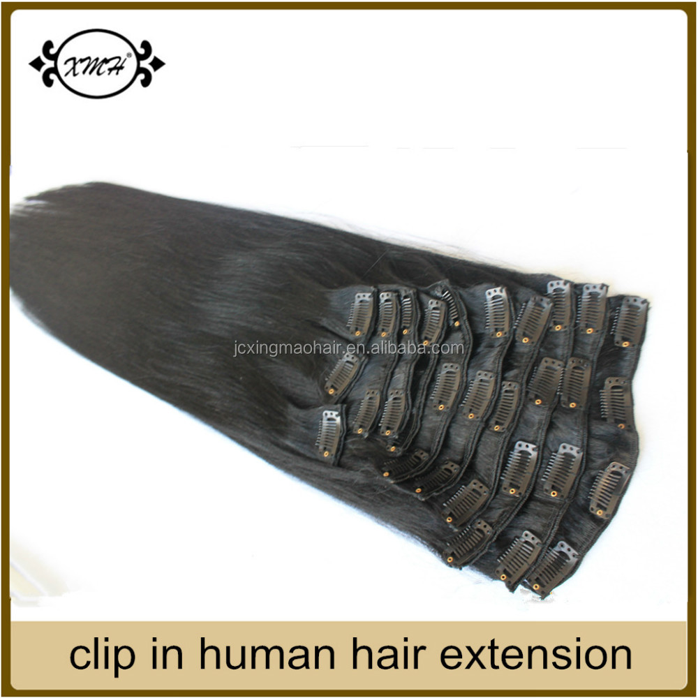 2015 Wholesale Remy Human Hair Extension Grade 7A Clip on Hair Extensions Walmart Hair