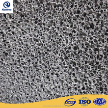 Porous acoustic foam aluminum decorative material with punched holes