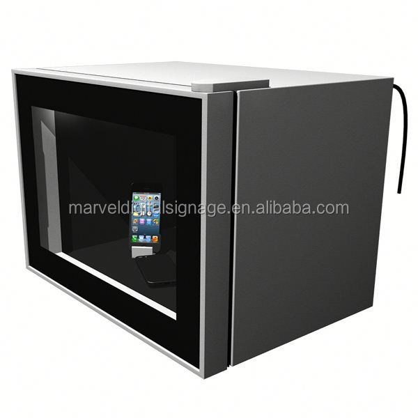 Vertical lcd monitor transparent lcd showcase