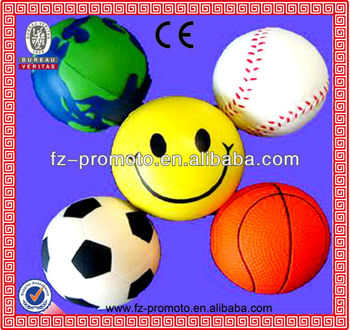 basketball PU stress ball soccer PU balls smile ball