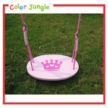 2015 new design wooden swing set, low price wooden swing chair