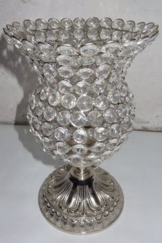 CRYSTAL T LIGHT VOTIVE WITH ALUMINIUM BASE