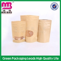 fashionable bespoke snack food packaging paper bags with window