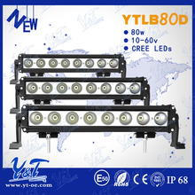 Economical super bright 80W led light bar low current draw lights bartrobe black color led light bar for most vehicle