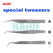 Special Stainless Steel Golden Wing Eyelash Tweezers Superhard Eyelash Extension Beauty Tool Dolphin Tweezers Repair Tools