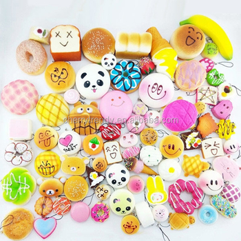 Squishy Toys Charms Phone Straps Pendants Kids Toy Gifts