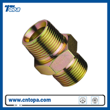 Carbon steel hydraulic hose bsp to npt male thread adapter for hydraulic system