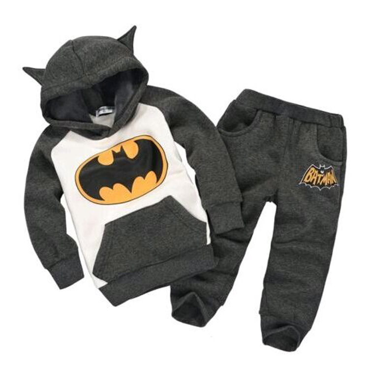 Boy suit Child Clothes long Sleeve hooded Cartoon Sports sweater suit kids clothing T242