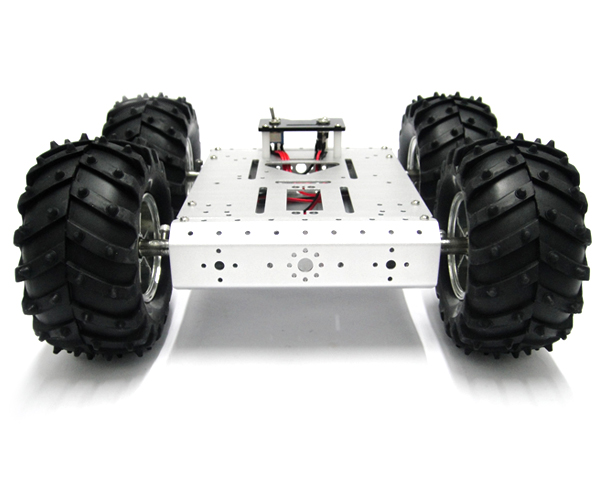 4WD Aluminum Mobile Robot Platform with 4 DC Motors