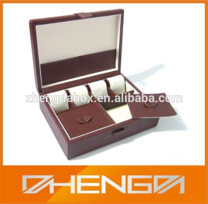 High quality customized made-in-china mirror glass jewelry boxes with tray( ZDW-J049)