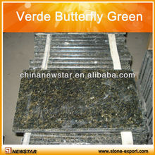Verde Butterfly Green granite tile/ cut to size good price