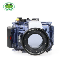 Seafrogs Newest 40M underwater diving case waterproof camera housing for Sony RX100 IV DSLR camera