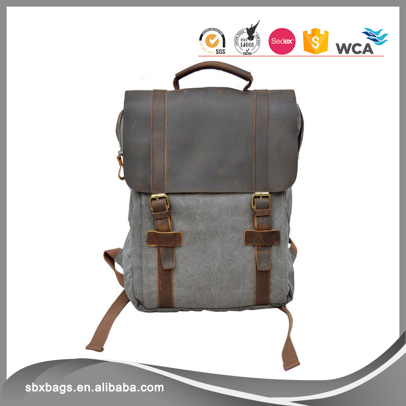 Vintage Canvas Laptop Backpack School Daypack Travel Hiking Knapsack Rucksack