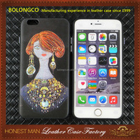 2017 Newest fashion design leather case for iphone 7, 3D leather phone case