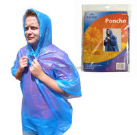 Adult emergency waterproof rain poncho with hood for festival theme park