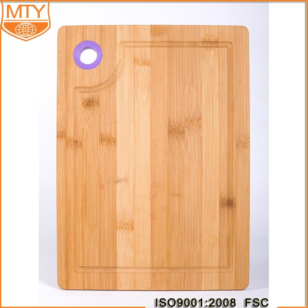 TY-B0042 Best Organic Bamboo Cutting & Chopping Board with Groove, Stunning Double Sided Design Ideal for your Kitchen
