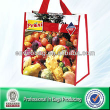 100% Recycled Material Grocery Woven Polypropylene Printable Reusable Shopping Bags