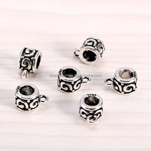 sef059 new 925 Thai Silver retro diy accessories wholesale Sunflowers embossed with a ring of Sterling Silver tubes