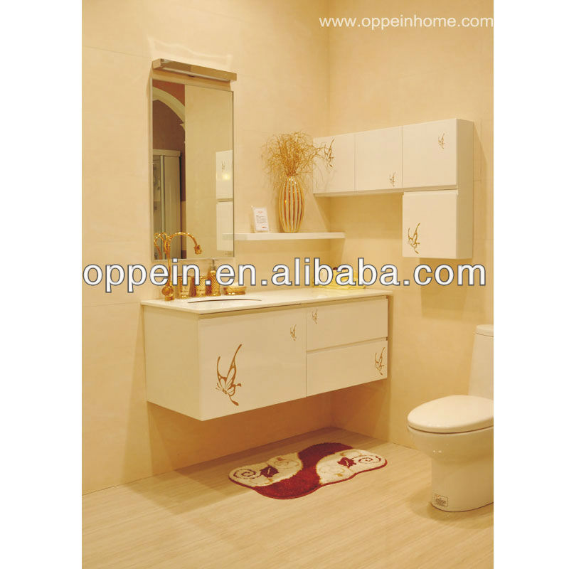 Lacquer Modern Complete Bathroom Cabinet Vanity Furniture Set