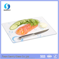 4mm 5mm tempered glass chopping board for kitchen