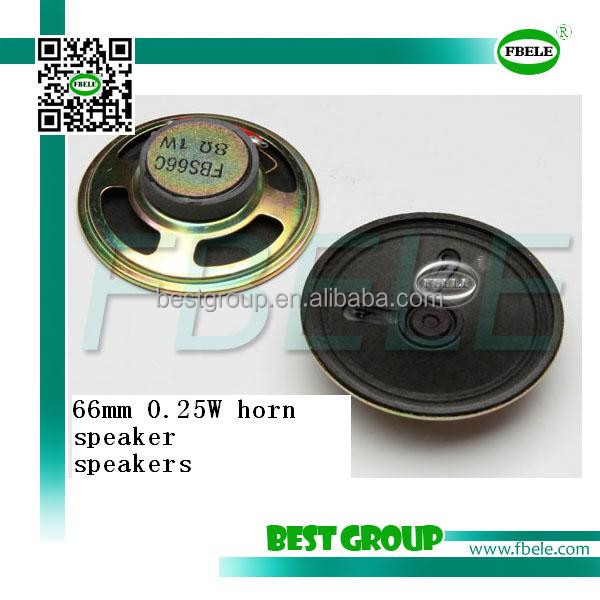 hot sell 66mm 8 ohm 0.25W horn speaker FBS66C