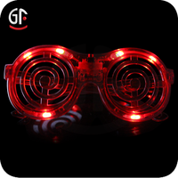 2016 Party Supplier Wholesale Round Shaped Flashing led Sunglasses For Christmas