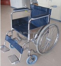 Electroplate folding manual wheelchair