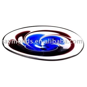 Murano plate for home decor