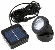 Led underwater solar light Solar Powered 6 LED Spotlight Garden Pool Pond Lamp Underwater Lights
