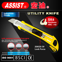 New locking press button 5 blade self loading safety utility knife pocket knife