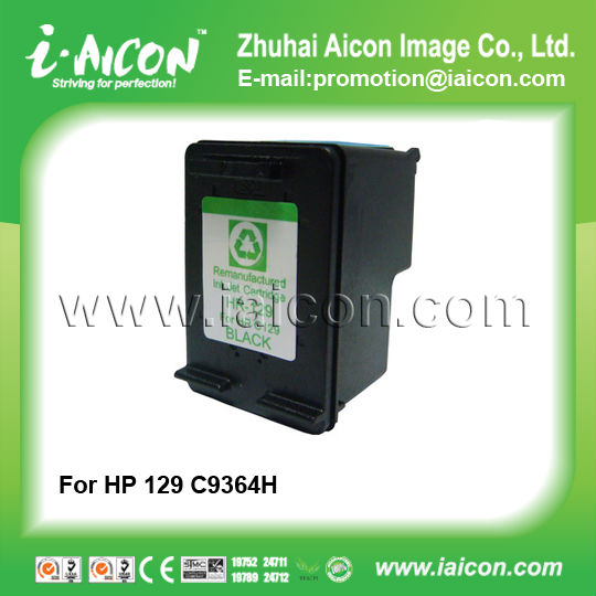 Remanufactured inkjet cartridge for HP 129 C9364H