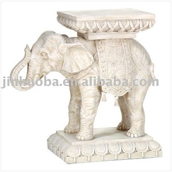 Polyresin Lucky Elephant Plant Stand