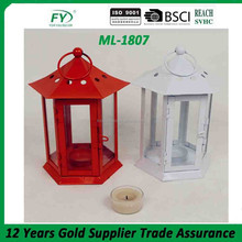 ML-1807 Chinese Hexagon table top wedding metal tealight lantern