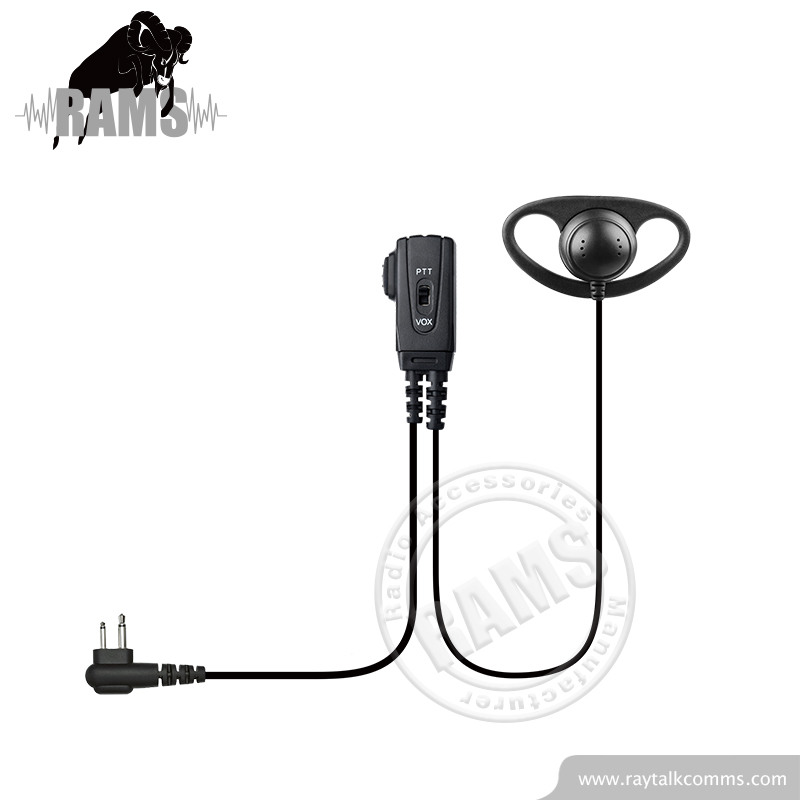 Shenzhen Earpiece with D shape Ear Hook PTT Police Radio Earpiece for EADS TPH700