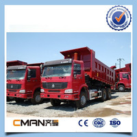 China howo 6x4 336hp super dump truck with hayward oil cylinder in jinan