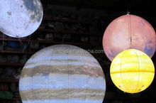 inflatable giant planet ball hanging / inflatable planet balloon led / inflatable planet
