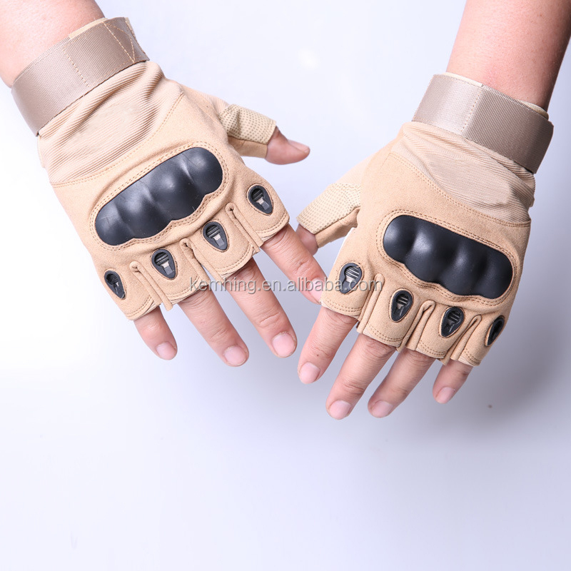 High Quality Protective Full half Finger Microfiber Military Tactical Training Gloves