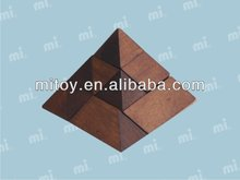 Pyramid wooden puzzle