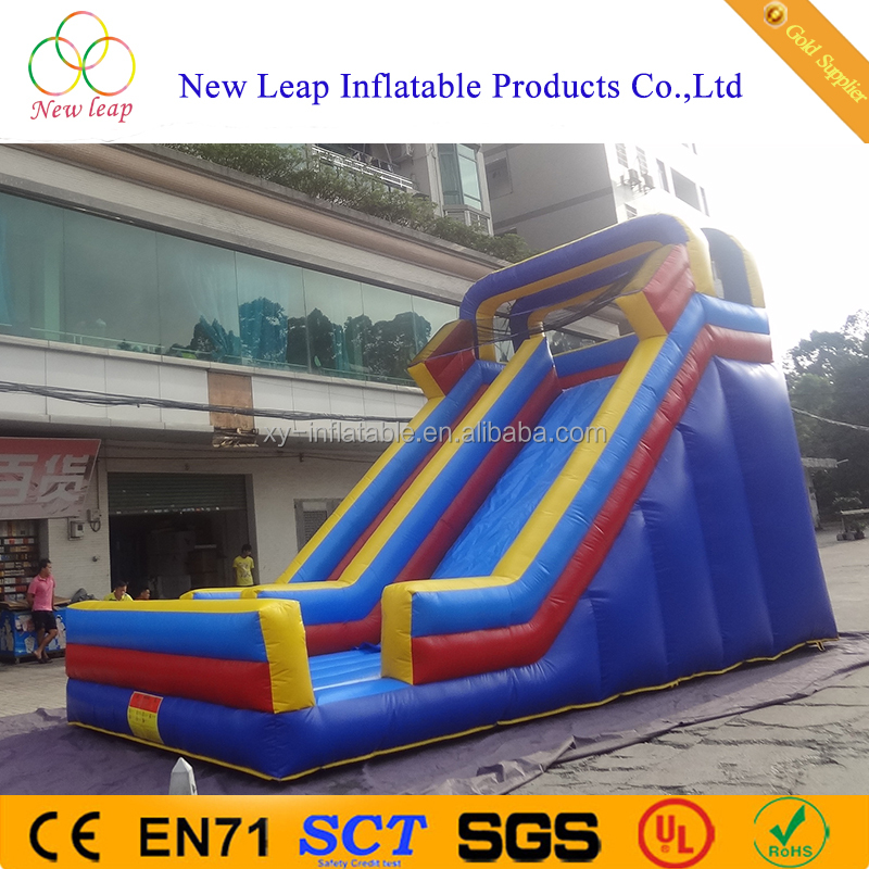 cheap outdoor slide safe inflatable slide with cover and front board