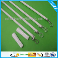 White Fiberglass Baton For Drapery Hardware 9.5mm curtain rod curtain pole FRP pole with Attachment