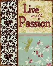 Classic Live Passion Metal Wall Decoration With Rust Edge