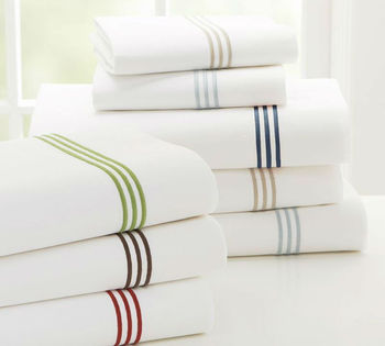 Bleached white high quality combed cotton bedding fabric for sheets