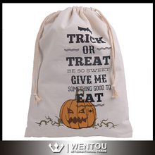 Personalized Canvas Trick or Treat Halloween Bucket