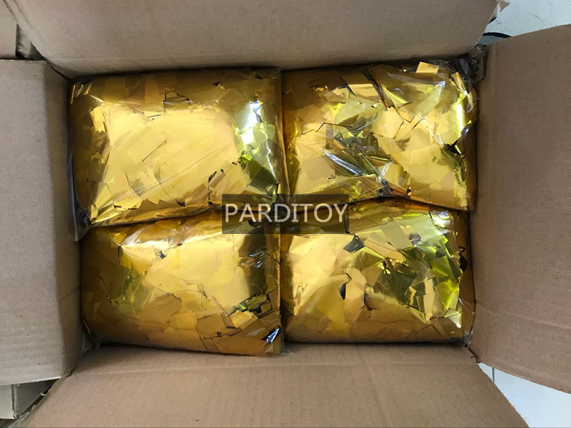 Gold and Silver mylar metallic confetti film for party event concert nightclubs