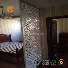 DIY Fireproof CNC Laser Cutting Partition MDF Carved Grille Decorative Screen Divider Wall Board