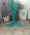 Clearance Sale!!! Stock green mixed chunky knit adult animal mermaid tail blanket